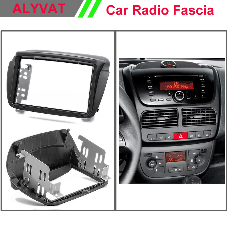 цена на Car DVD CD Radio Fascia for FIAT Doblo (263) 2010+ / OPEL Combo Tour (D) 2011+ Stereo Facia Dash CD Trim Install Kit