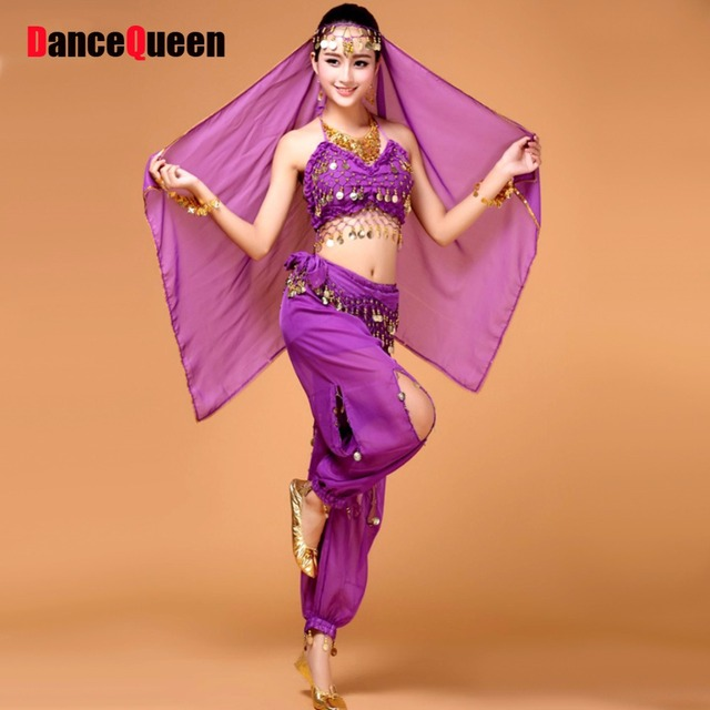 8cb97576ec0e 2018 New Indian Belly Dance Costume 4Pcs / 2Pcs Women/Girls Belly Dancing  Dress Traditional Indian Clothing Practice/Performance