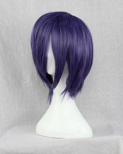 Image 3 - Парик Из Аниме Tokyo Ghoul Touka Kirishima, короткие фиолетовые волосы Kirishima Toka, вечерние парики для Хэллоуина + парик