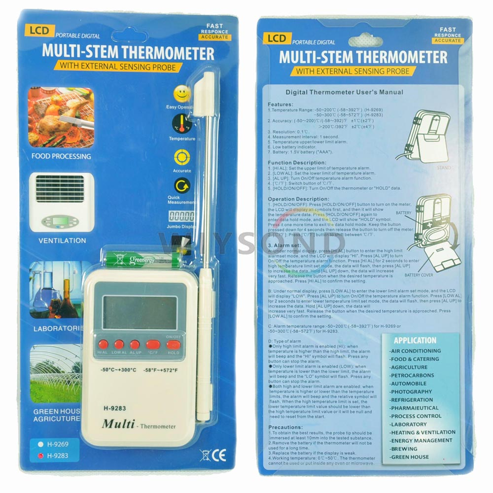 T008 H 9283 digital food Thermometer for Grill / Oven / BBQ Meat ...