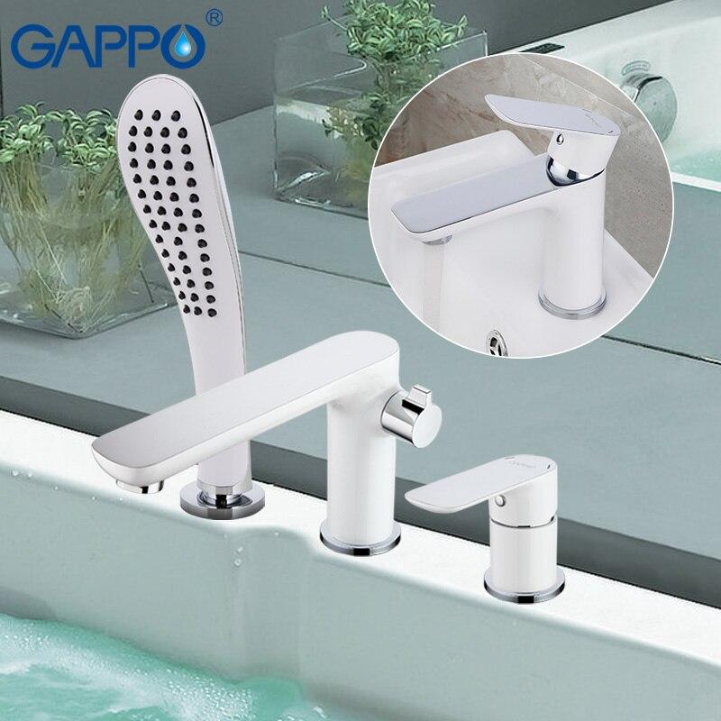 GAPPO white shower faucet bathroom basin sink faucet Bath tub taps shower mixer waterfall bath faucets