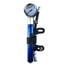цена на Mini Bicycle Pump With Pressure Gauge 210 PSI Portable Hand Cycling Pump Presta and Schrader Ball Road Tire Bike Pump New