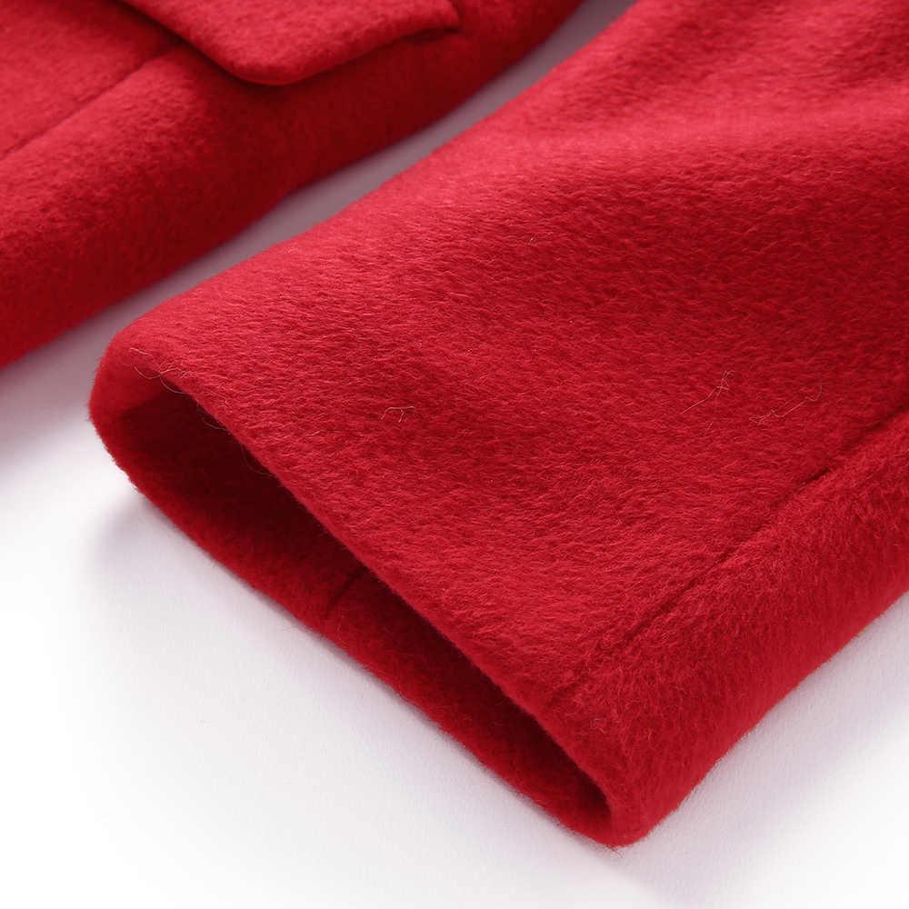 Balabala/шерстяное пальто с воротником для девочек-подростков; длинное пальто для девочек; модная куртка; Верхняя одежда; зимняя одежда