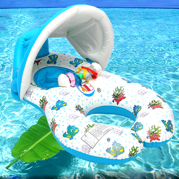 Inflatable Baby Pool With Float Neck Ring
