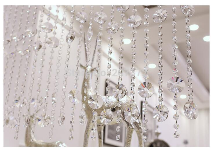 Modern 1meter Crystal Beads Chain 20pieces/lot CRYSTAL Beads Home/WINDOW/DOOR CURTAIN Decoration,Lighting DIY Accessories Parts