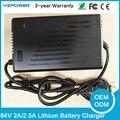 84 V 2.5A 2A Cargador de Batería de Litio Inteligente Para 72 V Li-Ion Lipo Batería EV