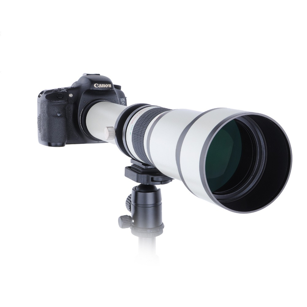 Telescope 650 1300mm F8 0 16 Ultra Telephoto Manual Zoom Lens with T2 Adapter Ring for