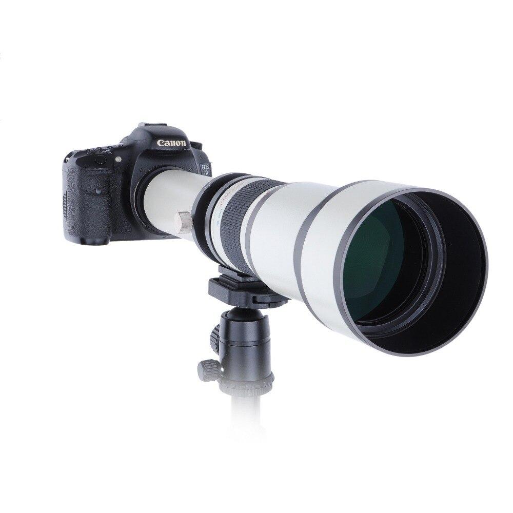 Телескоп 650-1300 мм f8.0-16 Ультра телефото ручной зум-объектив с T2 переходное кольцо для Canon Nikon sony Olympus Камера DSLR