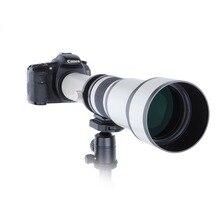 Télescope 650-1300mm F8.0-16 Ultra Téléobjectif Zoom Manuel Lentille avec T2 Adaptateur Anneau pour Canon Nikon Sony Olympus caméra DSLR