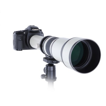 Telescope 650-1300mm F8.0-16 Ultra Telephoto Manual Zoom Lens  with T2  Adapter Ring for Canon Nikon Sony Olympus Camera DSLR