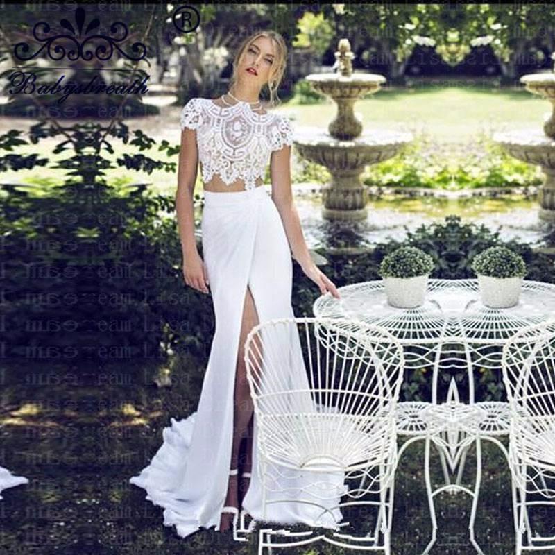 Cheap-Lace-Wedding-Dress-Vestidos-Black-Friday-Boda-2016-Front-Slit-Bodice-2-Piece-Bridal-Gowns
