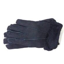 Мужские перчатки из натуральной кожи с натуральным мехом Зима теплые толстые варежки из овчины Аксессуары Горячие мужские зимние перчатки из натуральной кожи