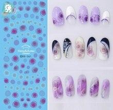 Rocooart DS361 DIY Water Transfer Nails Art Sticker 2017 Year Deep Tarashikomi Flowers Nail Wrap Sticker Tips Manicura stickers
