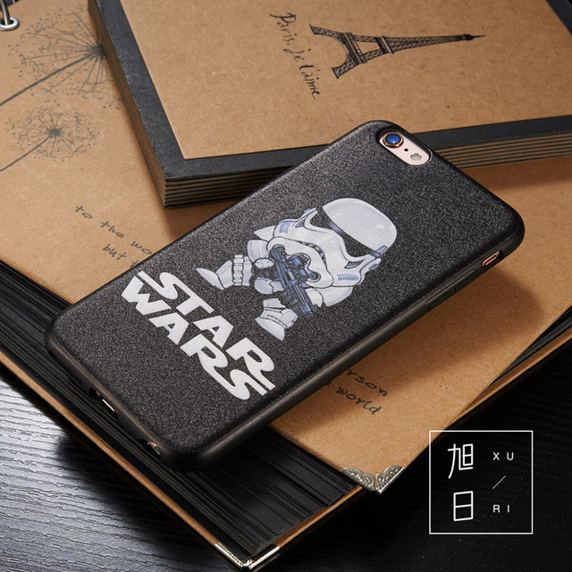 Star Wars Darth Vader – Stormtrooper Black Matte iPhone Cover Case