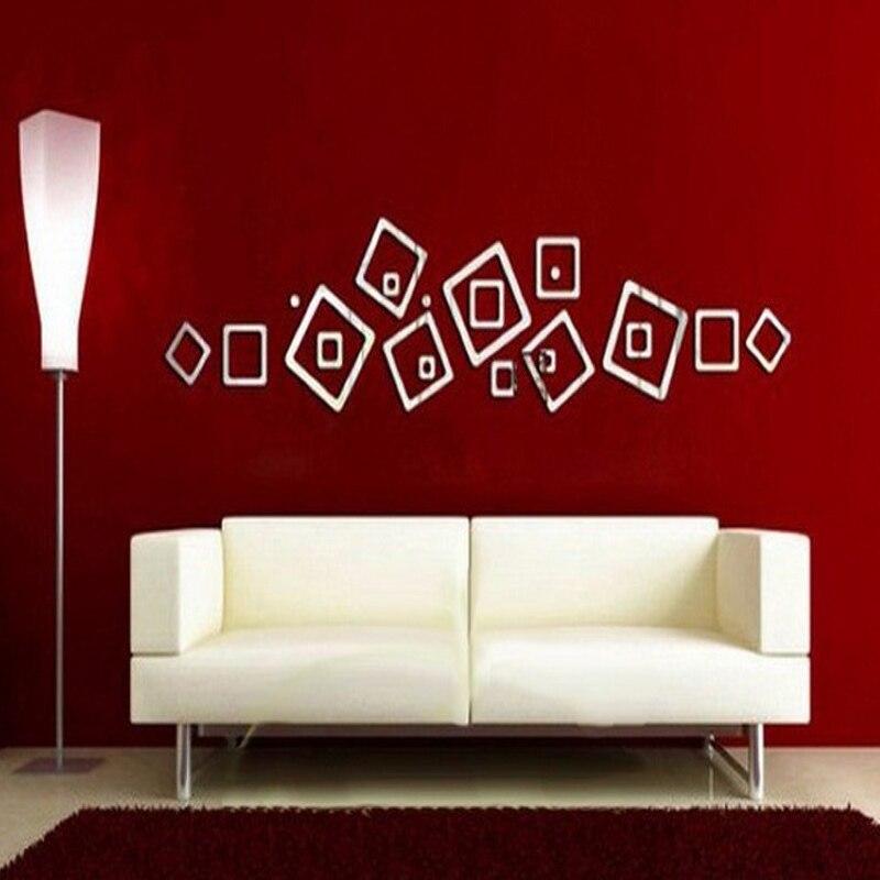Top echt angebot moderne design große diy Acryl Große Muster spiegel wand aufkleber pferd nach hause dekoration