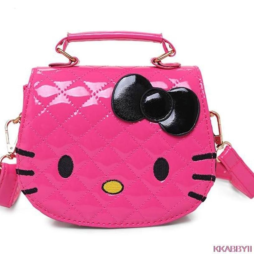 Nueva llegada caliente Hello Kitty niña princesa Lentejuelas bolsa billetera portátil mensajero del bolso de los niños