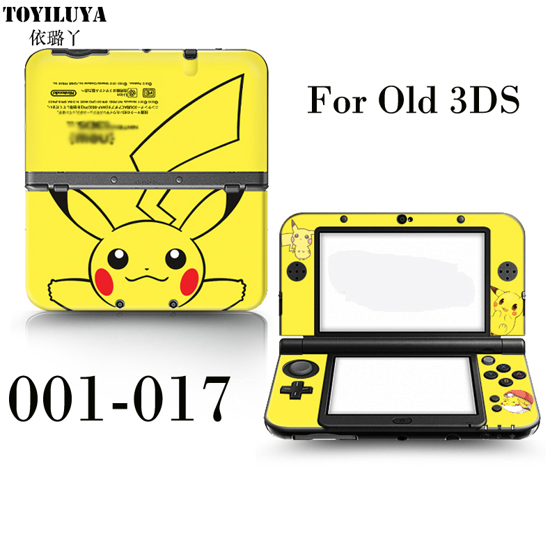 Pikachu Stick Gamepad-Skin Protector Cover Plates or Pokemon Sun and Moon For Normal Small 3DS For Old 3DS Colorful image