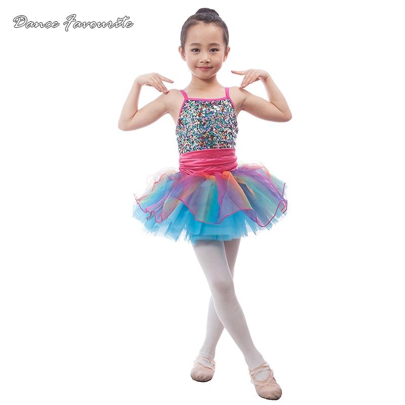 Dance Favourite Colorful child dance costume ballet tutu kid stage performance dance costume ballerina girl tutu