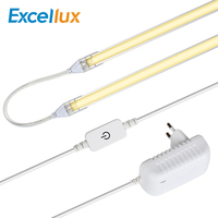 1Set 2PCS 50CM 24V LED Bar Light For Kitchen Cabinets Lamp TOUCH SENSOR Dimmer Seamless Connecting Ultra Thin Rigid LED Strips