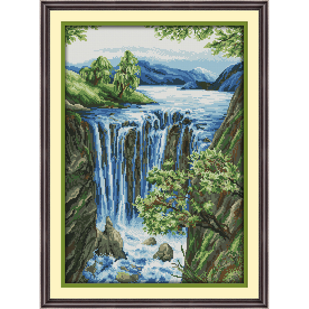 Everlasting love Waterfall Chinese cross stitch kits Ecological cotton stamped 11CT 14CT DIY gift new year decorations for home