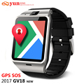 2017 aplus gv18 smartwatch bluetooth smart watch para android ios suporte por telefone gps sos sms gprs do cartão sim tf fm nfc pk dz09 gt08