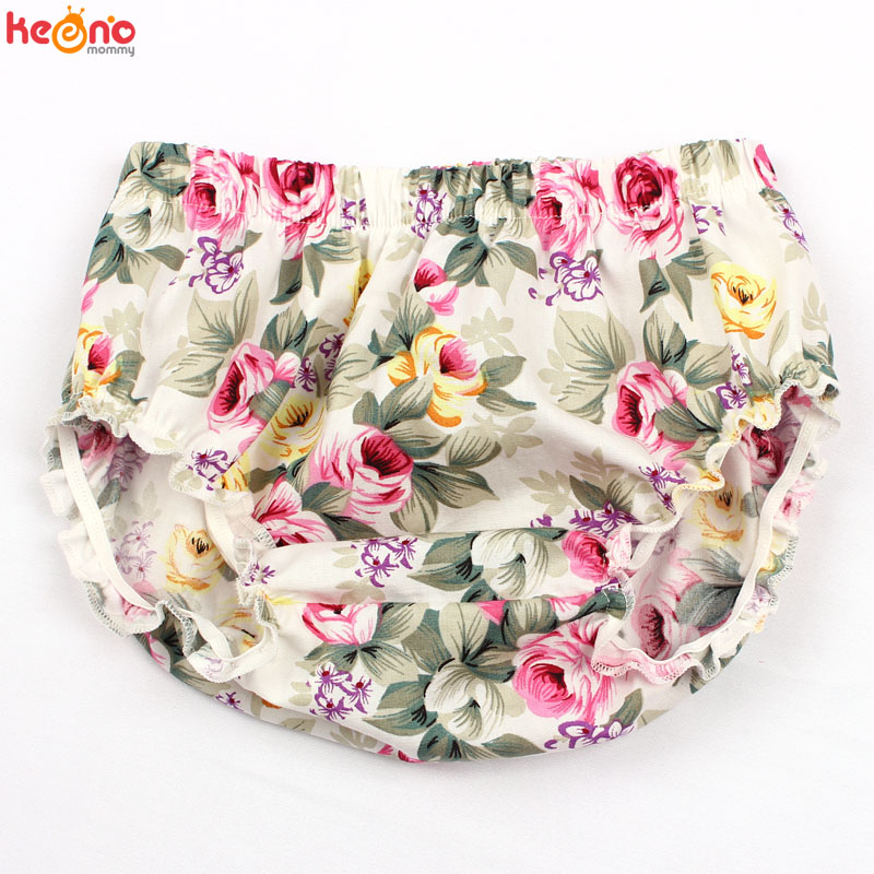 Baby Newborn Floral Bloomers Little Girls Summer Beach Clothing Baby Cotton Diaper Cover Toddler Birthday Cake Smash   Shorts