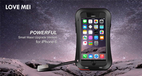 Love mei Powerful Small Waist Waterproof Shockproof Aluminum Case Cover For Apple iPhone 6 4.7 inch free Tempered Glass