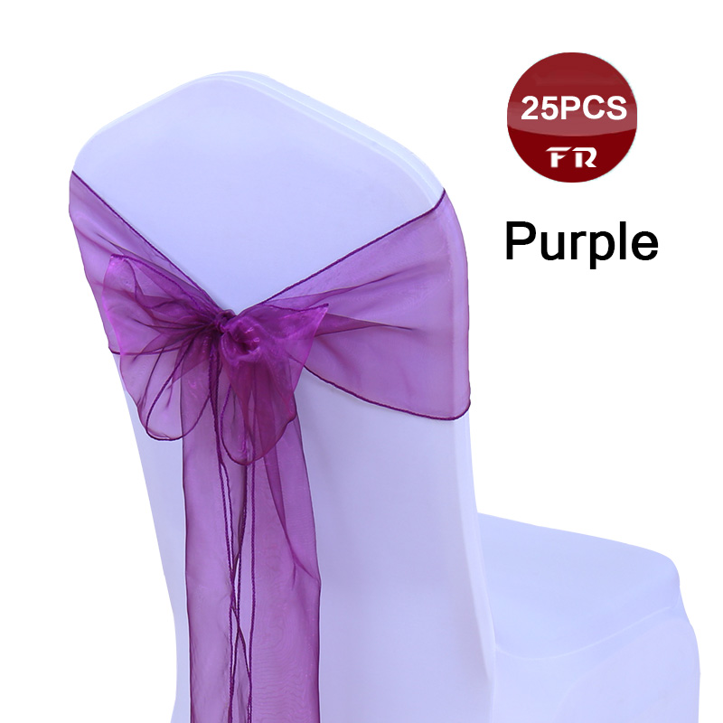 25 Polyester Banquet Chair Covers Wedding Reception Party Decorations 3 Colors!