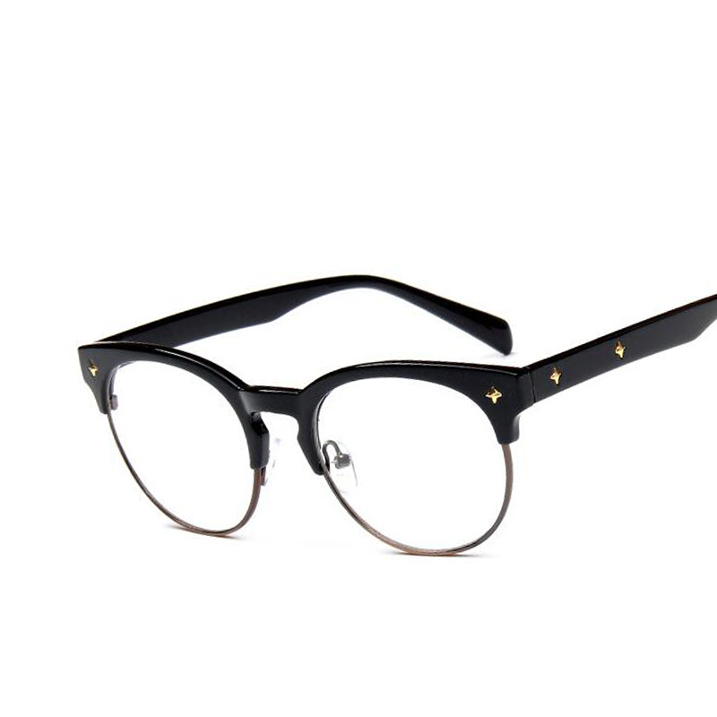 black friday vintage optical glasses women brand designer glasses frame classic eyeglasses frames men vintage rivet radiation protection