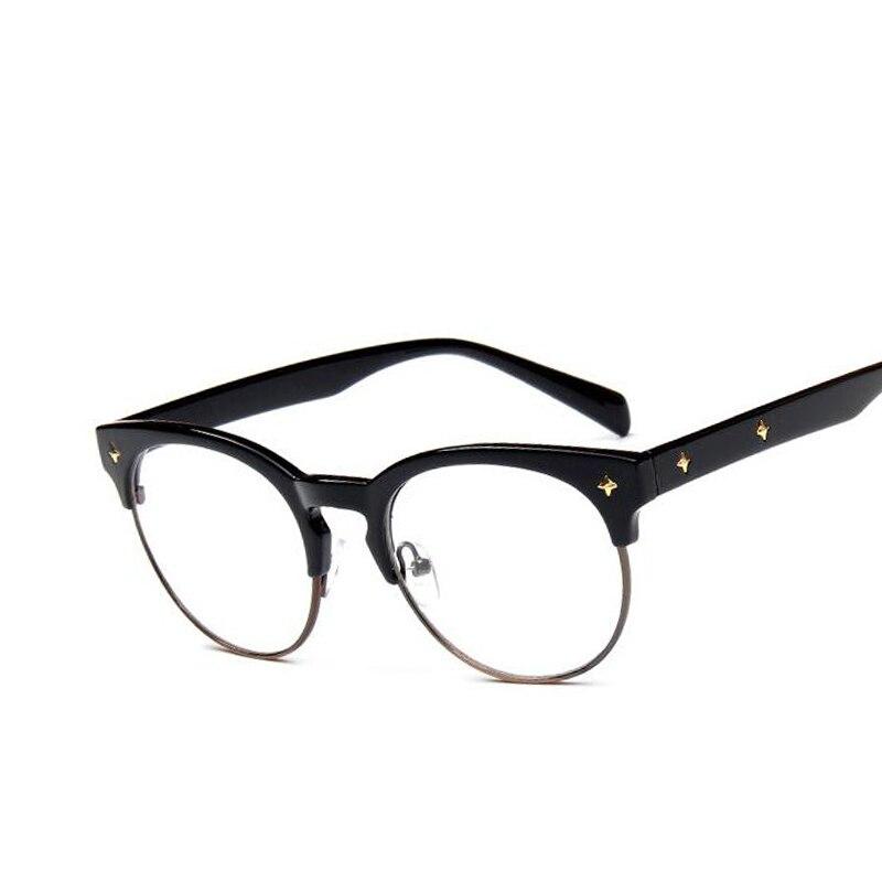 vintage optical glasses women brand designer glasses frame classic eyeglasses frames men vintage rivet radiation protection