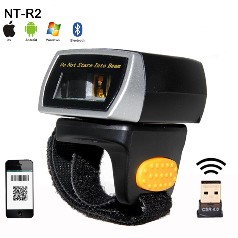 New mini wireless 2D QR Bar code Scanner Portable Bluetooth Wearable Ring 1D/2D Scanner Barcode Reader for Window/Android/IOS laser weirless scanner wearable ring bar code scanner mini bluetooth scanner barcode reader 1d reader scan for phone pc tablet