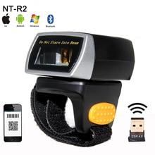 Neue mini wireless 2D QR barcode Scanner Tragbare Bluetooth Tragbare Ring 1D/2D Scanner Barcode Reader für Fenster/Android/IOS