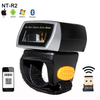 New mini wireless 2D QR Bar code Scanner Portable Bluetooth Wearable Ring 1D/2D Scanner Barcode Reader for Window/Android/IOS