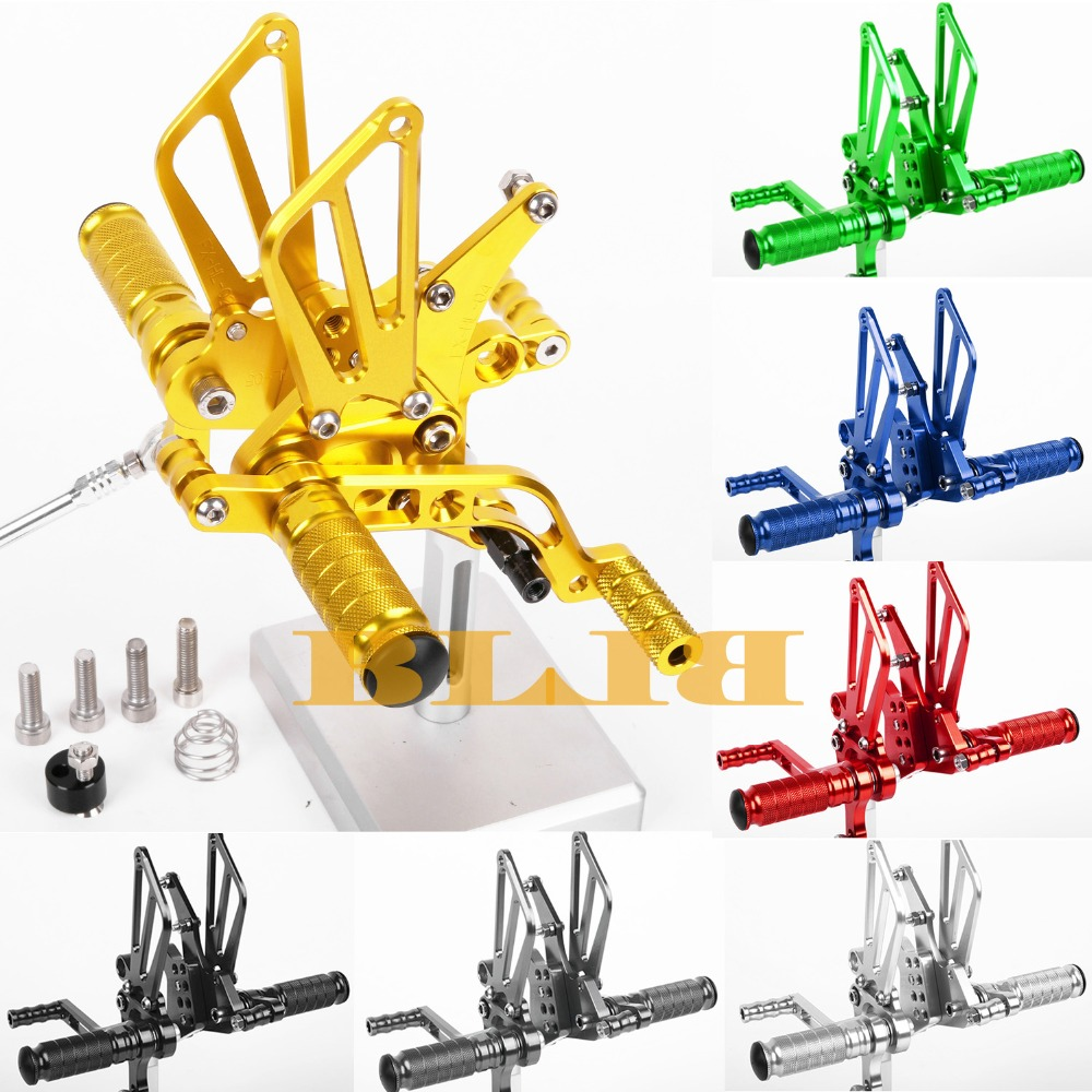 8 Colors For Benelli BJ600GS 2010-2013 Motorcycle Adjustable Footrests CNC Rearsets Foot Pegs Rear Set Motorbike Footpegs