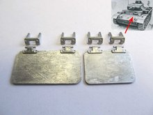 Mato Metal front hatches for  1/16 1:16 RC Panzer III tank, metal upgraded parts