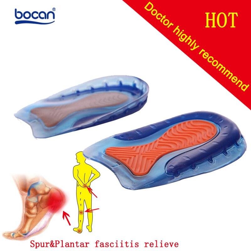 Plantillas de Gel BOCAN para Spur fascitis Plantar plantillas amortiguación zapatos cómodos plantillas Gel para hombres y mujeres