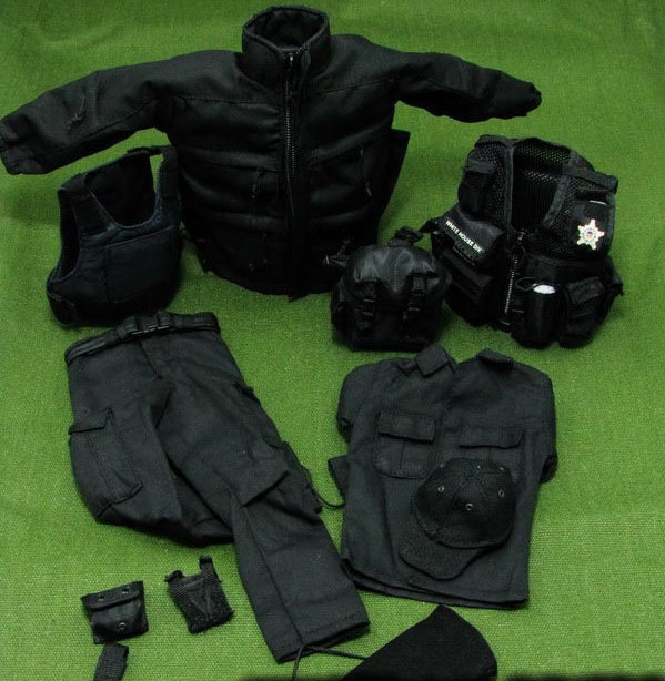 купить 1/6 scale figure doll clothes male SWAT uniforms for 12