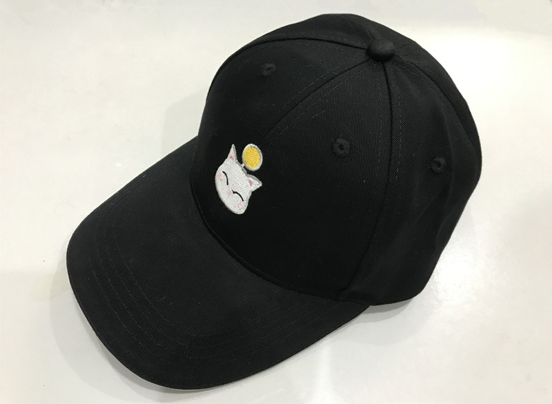 Final Fantasy XIV FF14 Moogle geborduurde toptafel Snapback hoed - Carnavalskostuums
