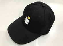 Final Fantasy XIV FF14 Moogle Embroidered Topee Snapback Hat Black Baseball Cap
