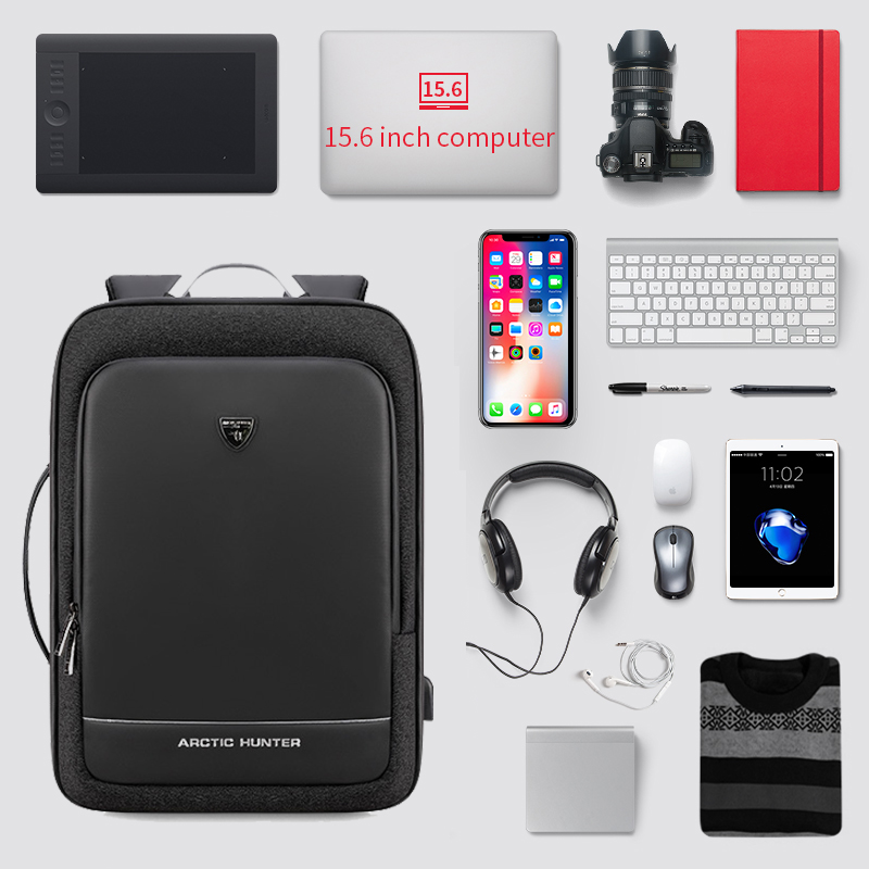 Men Swiss External USB Charging Multifunction Large Capacity Backpack Business Travel 17 Inch Laptop School Bag Mochila Feminina