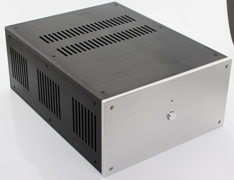 WA109 aluminum amplifier chassis /Class A power amplifier /Pure post-amplifier case/AMP Enclosure /case/DIY box (285*150*370mm) 1969 aluminum enclosure power amplifier chassis class a amp box dual heatsink