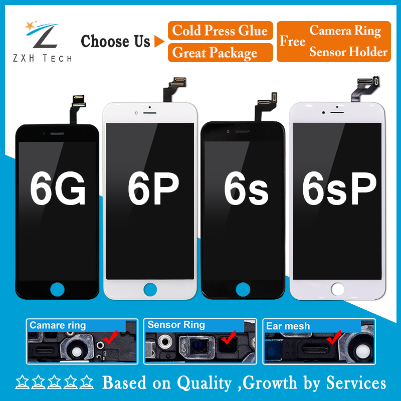10PCS/LOT AAA LCD Touch Screen Ecran For iPhone 6 6 Plus 6S 6S Plus LCD Display Pantalla Digitizer Assembly Replacement DHL
