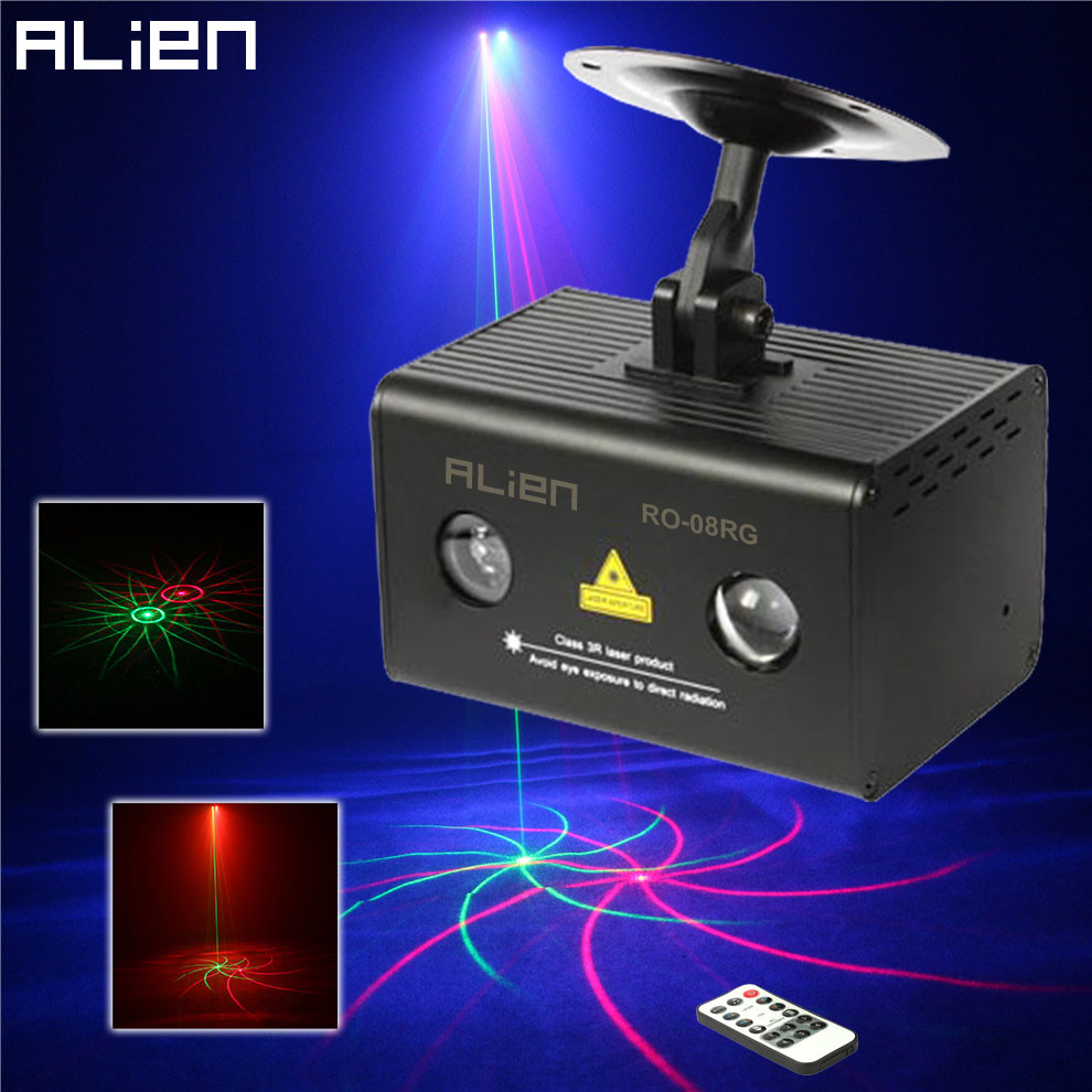 ALIEN 8Patterns Mini Stage Laser Lights Projector Water Galaxy Full Color RGB DJ Disco Club Party Remote Stage Lighting EffectALIEN 8Patterns Mini Stage Laser Lights Projector Water Galaxy Full Color RGB DJ Disco Club Party Remote Stage Lighting Effect
