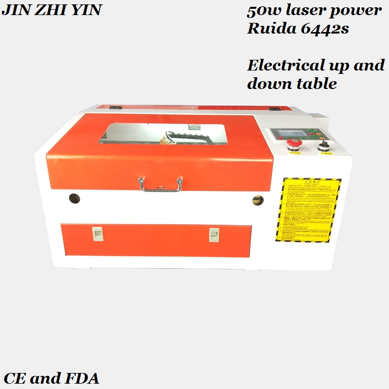 50w Co2 Laser Engraving Cutting Machine 4030 Ruida 6442s Controller Engraver Laser 50w With Electrical Up And Down Table