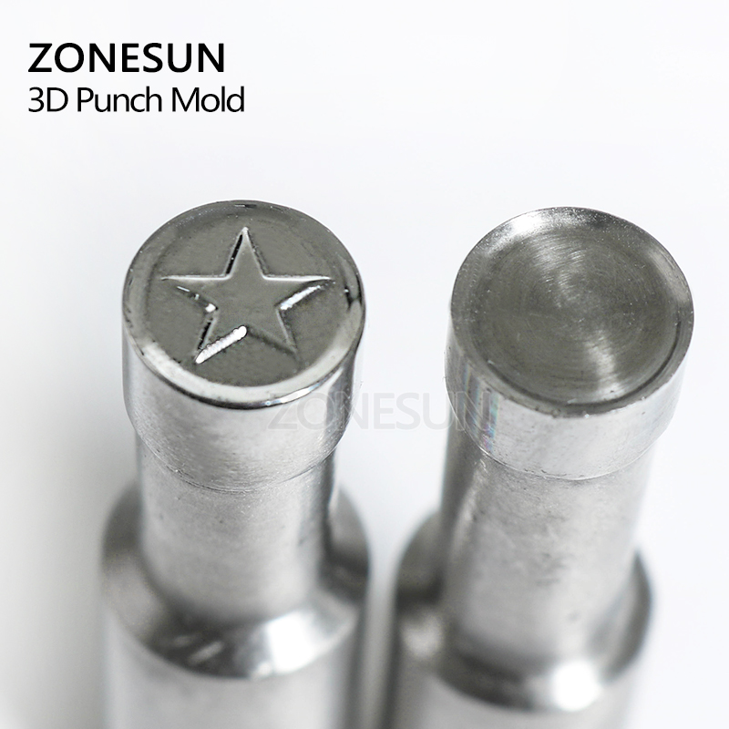 ZONESUN Star logo custom round candy milk tablet slice die Stamp precision punch die mold sugar tablet press tool TDP 0/1.5/3 aichun natural 300g green tea breast lifting fast cream 40g breast enhancement lifting soap breast enlargement set a369