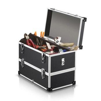 2 слоя портативный ящик для хранения инструмента жесткий чехол с ручкой и ремешком большой контейнер для хранения рыболовные снасти органа...