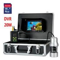 20 м 7 TFT DVR Регистраторы Подводный Видео Рыбалка Камера Системы обзора 360 градусов Дистанционное управление 14X светодиоды подводных исследов