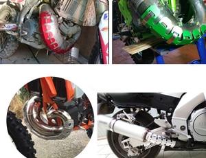 Image 5 - Глушитель выхлопной трубы для велосипеда внедорожника, защита для ног трубы, тепловая защита, чехол для TRIUMPH DAYTONA 600/650 SPRINT GT SPRINT ST/RS