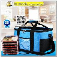 28L takeaway incubator portable meal bag outdoor folding picnic basket aluminum foil refrigerated ice bag picnic bag