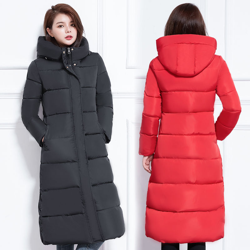 Plus Size 3XL Down Cotton Winter Jacket Women Abrigo Mujer Hoodies Thicken Long Female Jacket Warm Winter   Parka   Women Coat C5132